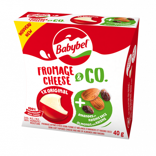 Babybel Cheese & Co - Almonds & Raisins